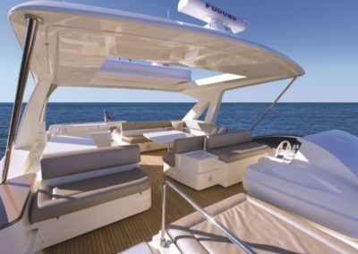 81 Ferretti yacht navigation station