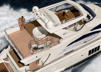 84 Azimut yacht flybridge