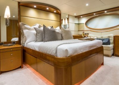 84 Lazzara yacht master stateroom