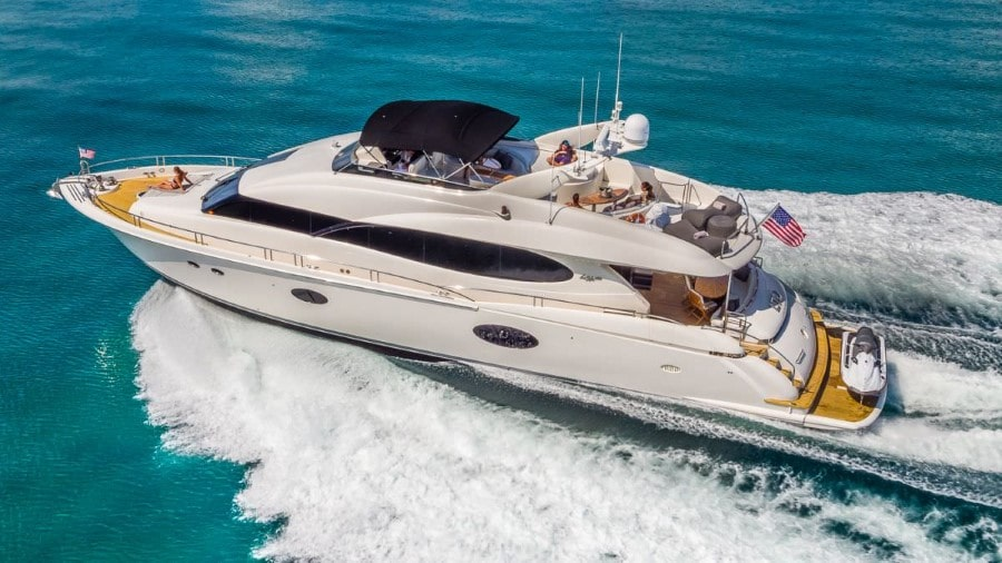 84 Lazzara Miami rental motor yacht