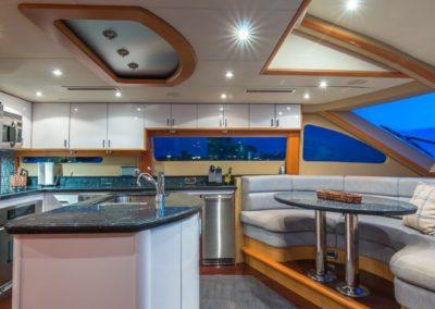84 Lazzara yacht galley