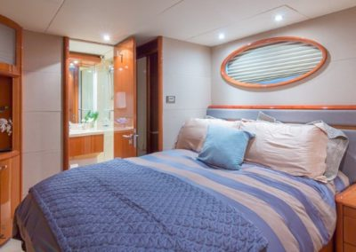 84 Lazzara yacht guest stateroom