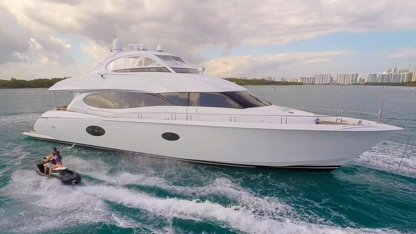 85 Lazzara Miami rental motor yacht