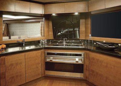 85 Azimut yacht galley