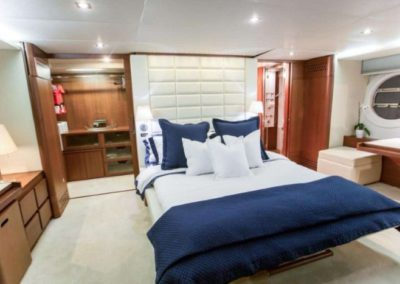 85 Aicon yacht master stateroom