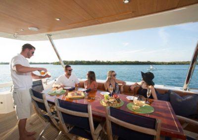 85 Aicon yacht at anchor in Miami