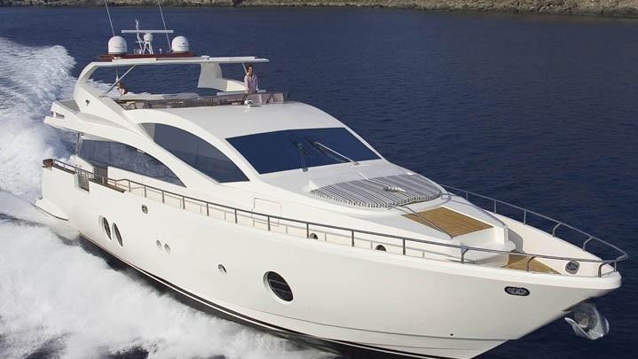 85 Aicon Miami charter motor yacht