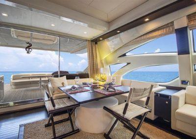 86 AzimutS yacht salon dining
