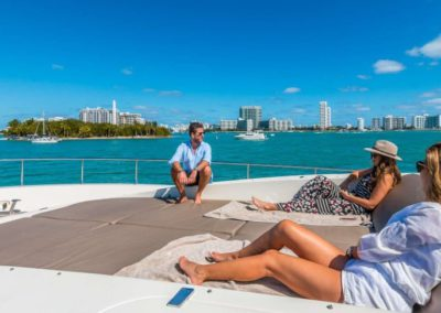 90 Leopard yacht at anchor in Miami