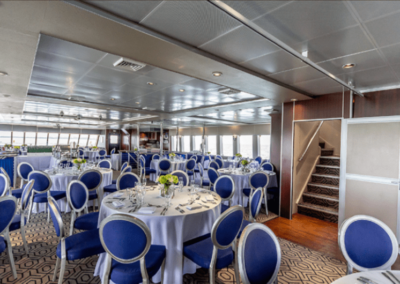 111 Austal party yacht main deck dining