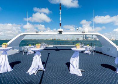 111 Austal party yacht top deck