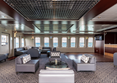 111 Austal party yacht 2nd level lounge