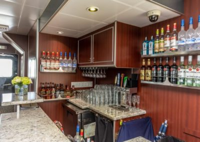 111 Austal party yacht open bar