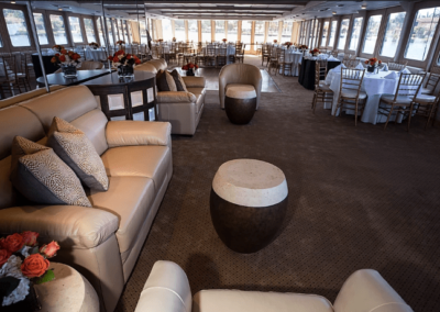 130 Chesapeake party yacht main floor lounge