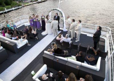 130 Chesapeake party yacht wedding ceremony