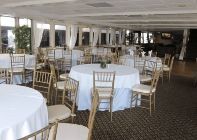 130 Chesapeake party yacht dining salon