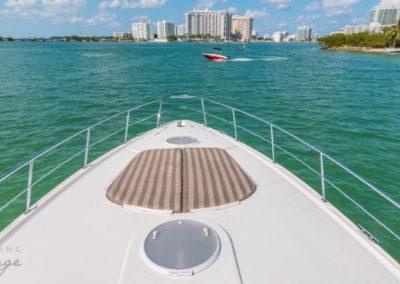 42 Cruisers yacht bow sunpads