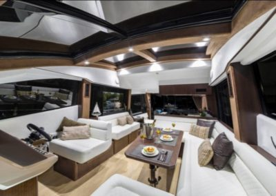 51 Galeon yacht salon dining and seating