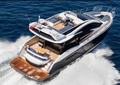 51 Galeon yacht cruising in Miami