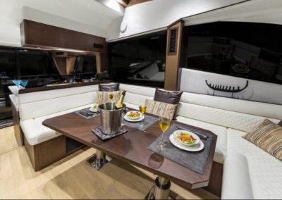 51 Galeon yacht salon dining