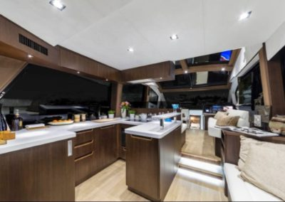 51 Galeon yacht galley