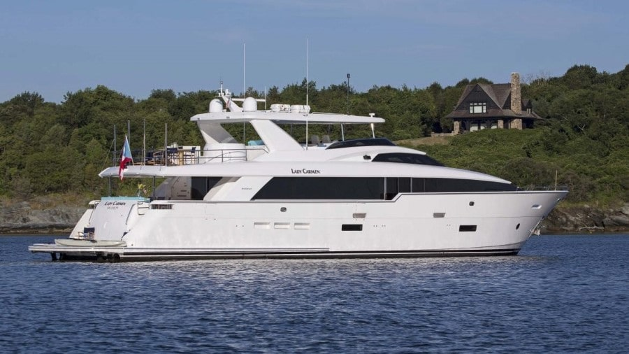 102 Hatteras Miami luxury charter yacht