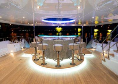 133 IAG yacht aft deck bar