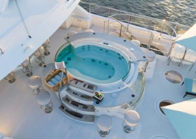 133 IAG luxury yacht flybridge jacuzzi