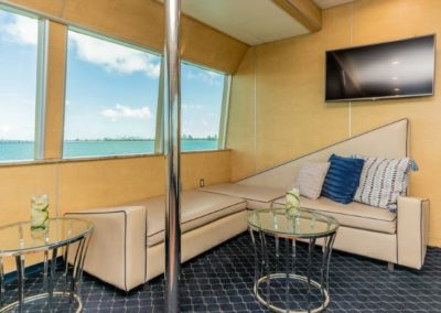 130 Island Boat party yacht enclosed lounge