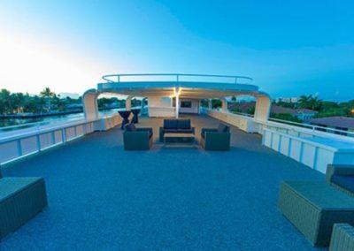 120K Marine party yacht open sky top deck