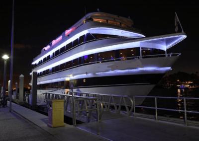 120K Marine party yacht at night