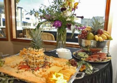 120K Marine party yacht fruit and cheese display