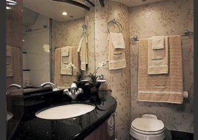60 Marquis charter yacht bathroom