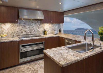 112 Ocean yacht full galley