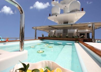 228 Oceanfast luxury charter yacht flybridge swimming pool