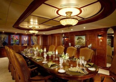 228 Oceanfast yacht main deck formal dining