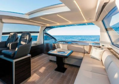 62 Pershing yacht charter comfort