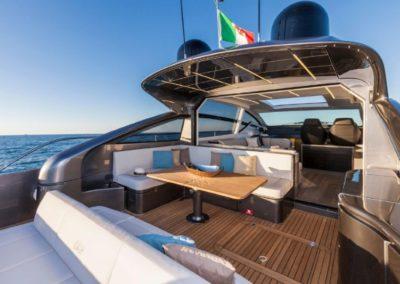 62 Pershing yacht aft deck