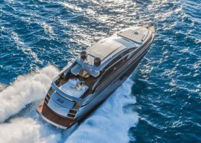 62 Pershing charter yacht