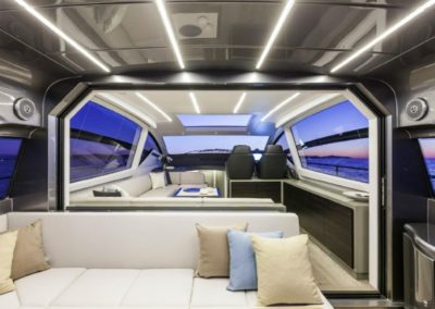 62 Pershing yacht salon and helm