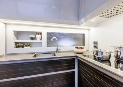 62 Pershing yacht galley