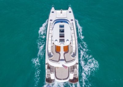 62 Luxury Power Catamaran cruising