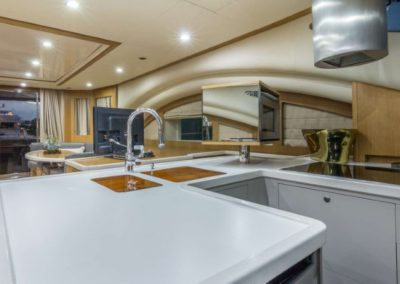 62 Power Catamaran galley