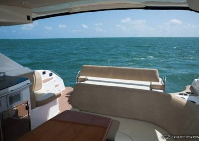 46 Regal yacht deck and aft deck seating
