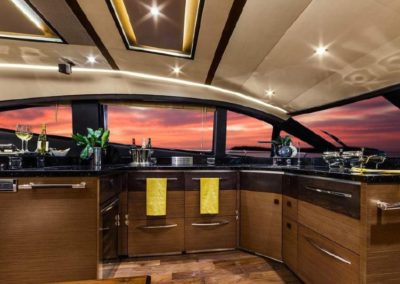 65 Searay yacht galley