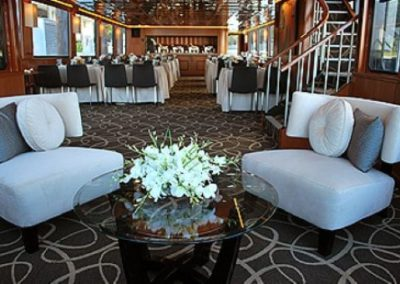 100 Skipperliner party yacht dining salon and lounge