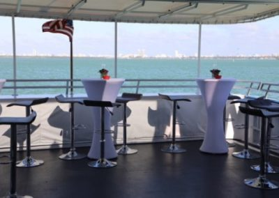 100 Skipperliner party yacht open air deck