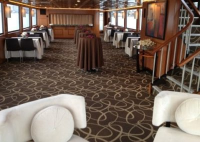 100 Skipperliner party yacht dining arrangement