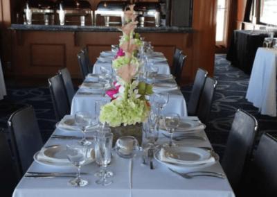 100 Skipperliner party yacht dining service arrangement