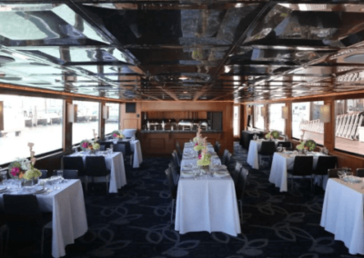 100 Skipperliner party yacht dining salon